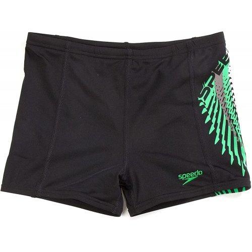 Badehose Zoomfast Kinder Panty Schwimmshorts für Jungen von Speedo Black--Green, 8056556765