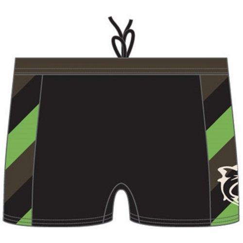 Badehose Cape Fear Jungen Panty Schwimmshorts von Speedo in Schwarz mit seitlichen Streifen, Black Stripe, 8071500001