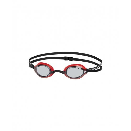 Speedo Erwachsene Speedsocket Schwimmbrille, Lava Red/Smoke, One Size