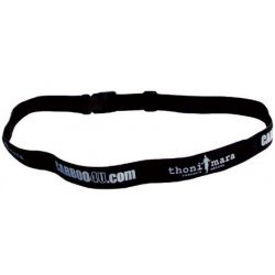 Carboo4U Thoni Mara Unisex Laufnummernband in schwarz | Startnummernband für Marathon, Triathlon, Laufen, Radfahren