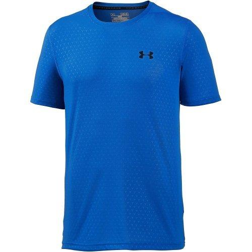 Under Armour HeatGear Threadborne Embossed Trainingsshirt Herren in blau