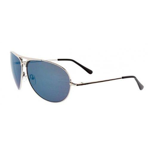 Sportsonnenbrille 13/05 mit 100 % UV-Schutz von Uvex, für jeden Moment die richtige Brille silberfarbenes Metallgestell mit blauen verspiegelten Gläsern