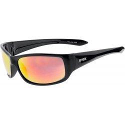 Sportsonnenbrille 14/05 mit 100 % UV-Schutz von Uvex, für jeden Moment die richtige Brille in Schwarz mit verspiegelten Gläsern