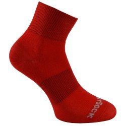 Wrightsock Coolmesh II quarter Socke rot unisex
