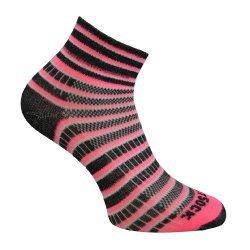 Wrightsock Coolmesh II quarter Socke pink, schwarz, weiß unisex