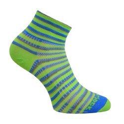 Wrightsock Coolmesh II quarter Socke grün, blau, grau unisex