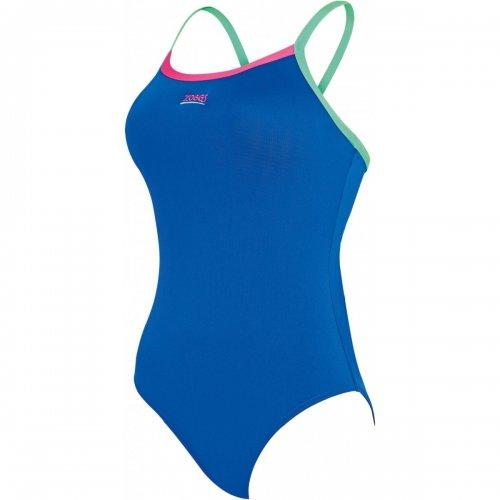 Badeanzug Cannon Strikeback von Zoggs Schwimmanzug Wettkampfanzug salzwasserbeständig  chlorresistent farbecht, Azur Pink Türkis