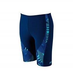 Schwimmshorts Blue Fusion Spliced Jammer von Zoggs, Badeshorts, Badehose, lang, Herren Badetight, Wettkampfhose, Sportjammer, blau, hellblau